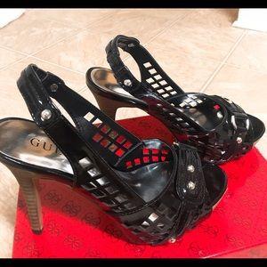 GUESS Birdy Black Heels